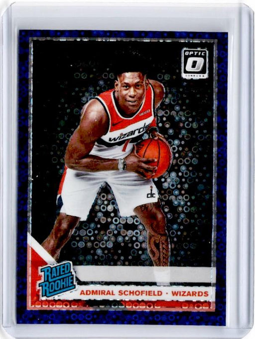 2019-20 Optic Fast Break ADMIRAL SCHOFIELD Rated Rookie Purple Prizm 68/95-Cherry Collectables