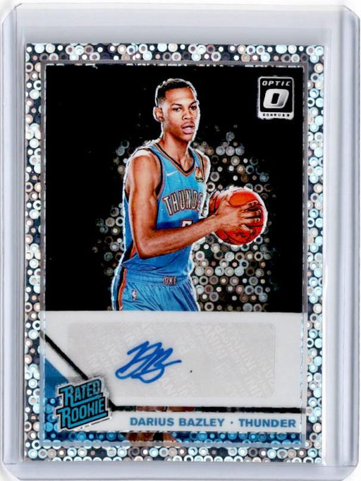 2019-20 Optic Fast Break DARIUS BAZLEY Rated Rookie Auto #156-Cherry Collectables