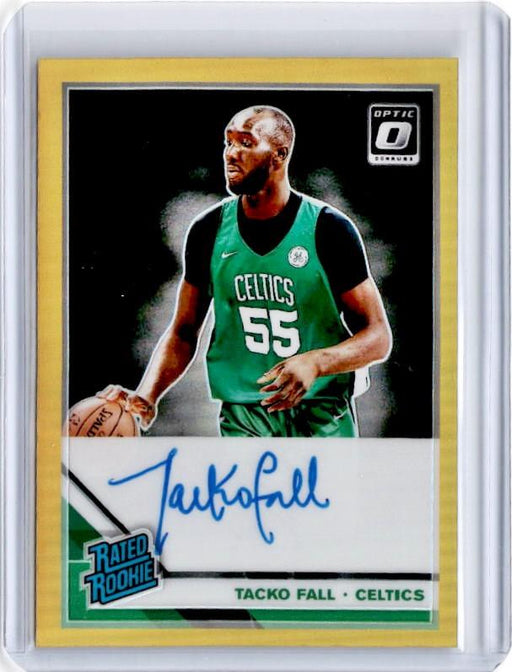 2019-20 Optic TACKO FALL Rated Rookie Gold Prizm Auto 7/10-Cherry Collectables