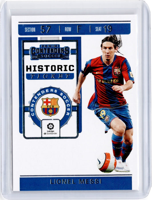 2019-20 Chronicles Soccer LIONEL MESSI Historic Rookie Ticket #1-Cherry Collectables
