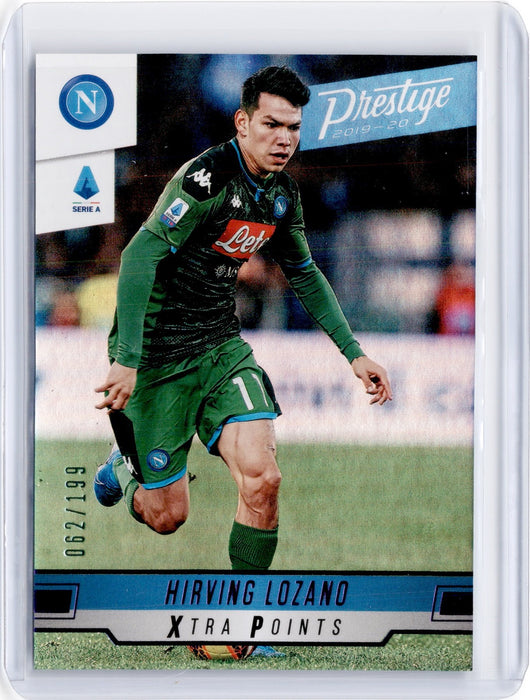 2019-20 Chronicles Soccer HIRVING LOZANO Prestige Xtra Points Purple 62/199-Cherry Collectables