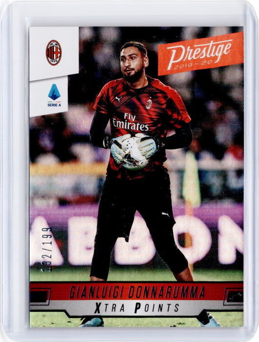 2019-20 Chronicles Soccer GIANLUIGI DONNARUMMA Prestige Xtra Points Purple 132/199-Cherry Collectables