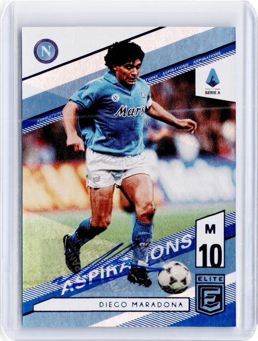 2019-20 Chronicles Soccer DIEGO MARADONA Elite Auto Blue 18/90-Cherry Collectables