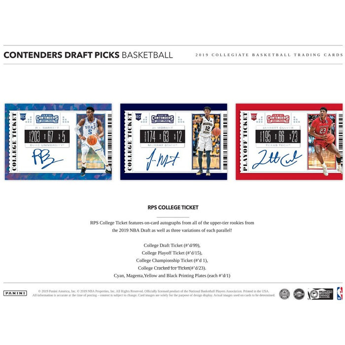 2019-20 Panini Contenders Draft Picks Basketball Pack-Cherry Collectables
