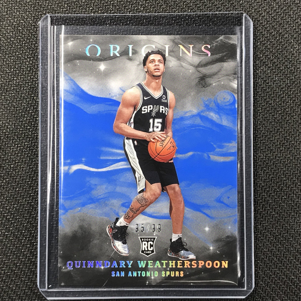 2019-20 Origins QUINNDARY WEATHERSPOON Blue Rookie 95/99-Cherry Collectables