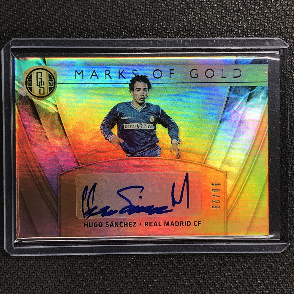 2019-20 Gold Standard Soccer HUGO SANCHEZ Marks Of Gold Auto 18/29-Cherry Collectables