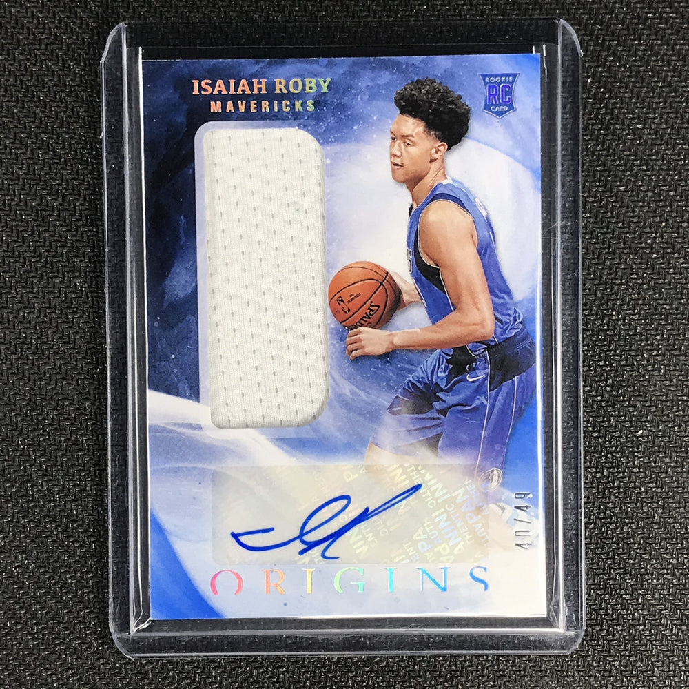 2019-20 Origins ISAIAH ROBY Rookie Jersey Autographs Blue 40/49-Cherry Collectables