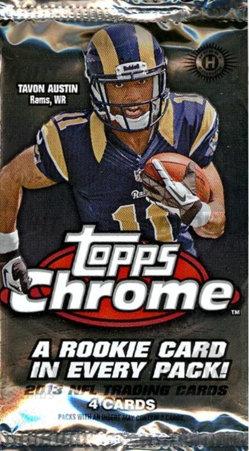 2013 Topps Chrome Football Hobby Pack-Cherry Collectables