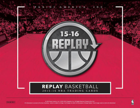 2015/16 Panini Replay Basketball Hobby Box - Cherry Collectables - 1
