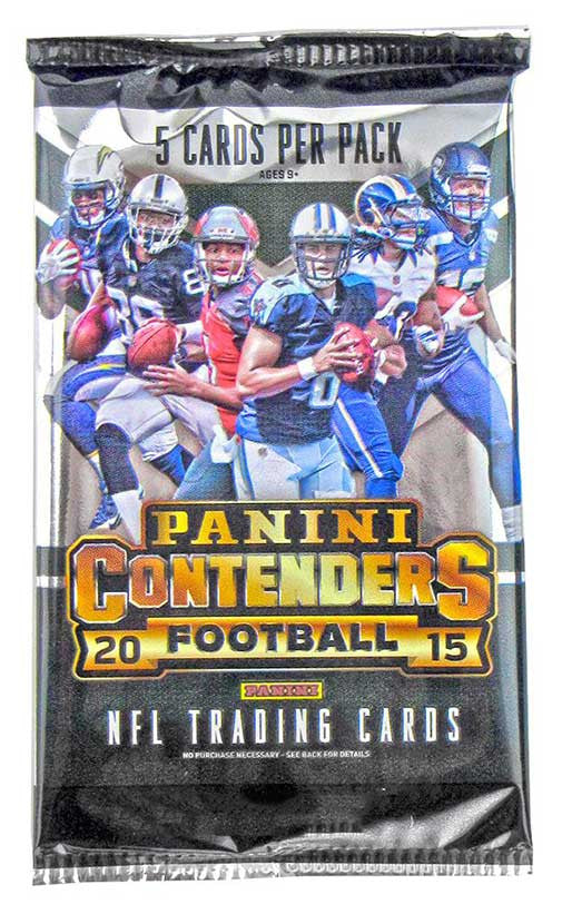 2015 Panini Contenders Football Hobby Pack-Cherry Collectables