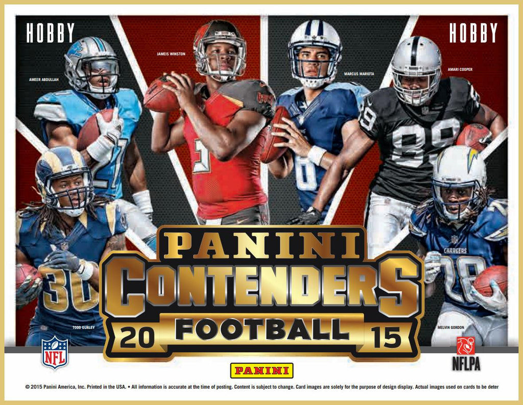 2015 Panini Contenders Football Hobby 12-Box Case-Cherry Collectables