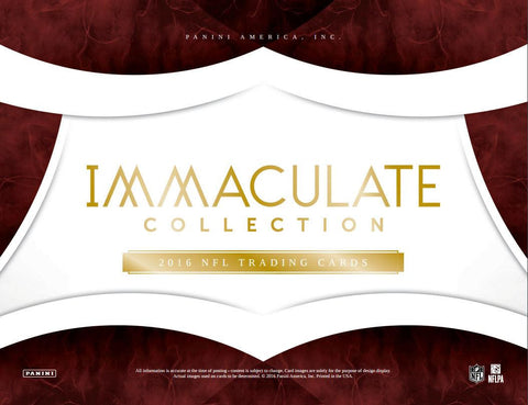 2016 Panini Immaculate Football Hobby Box - Cherry Collectables