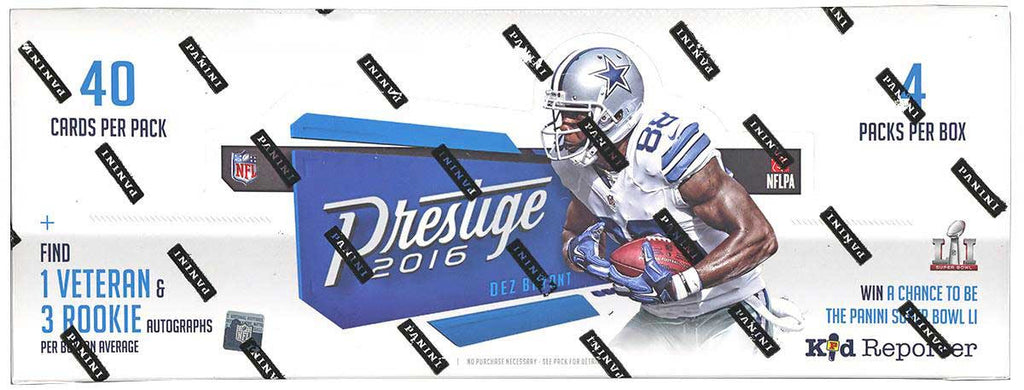 2016 Panini Prestige Football Hobby Box-Cherry Collectables