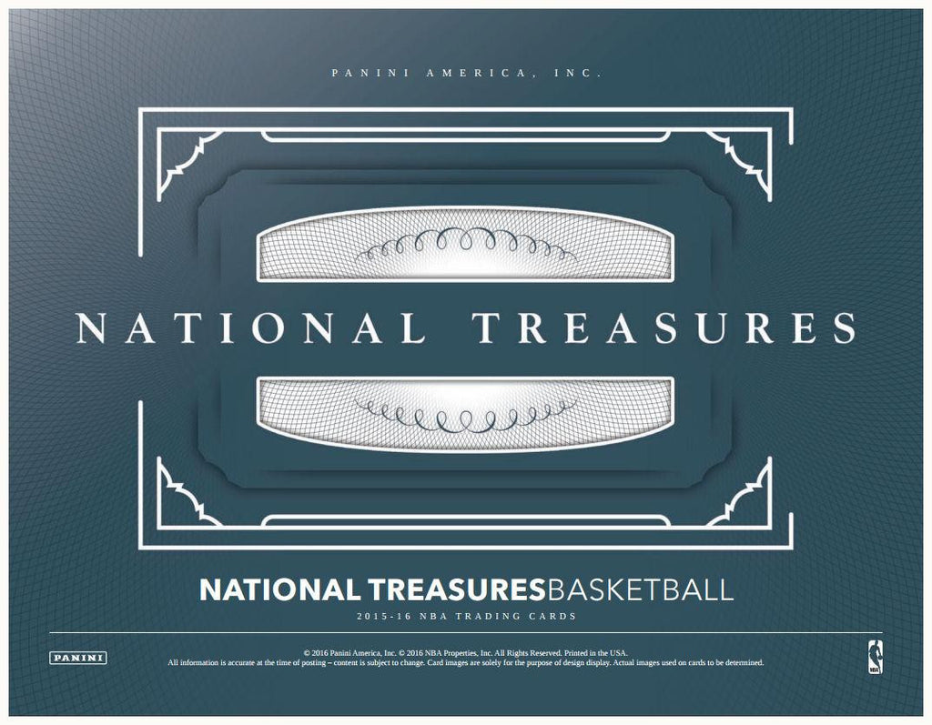 2015/16 Panini National Treasures Basketball Hobby Box - Cherry Collectables - 1