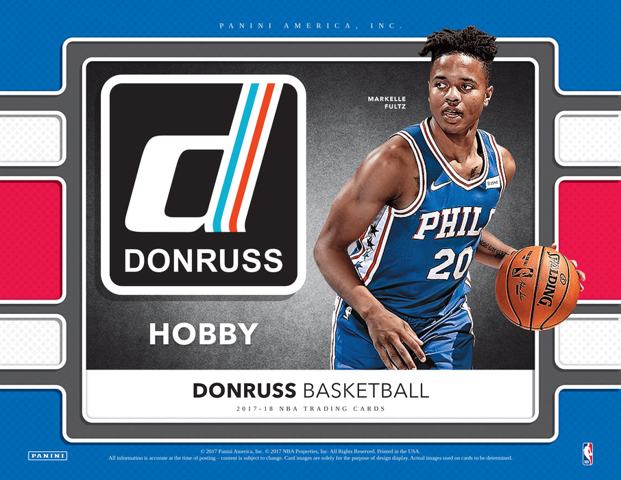 2017-18 Donruss Basketball Hobby Box (Pre Order Nov 11)-Cherry Collectables