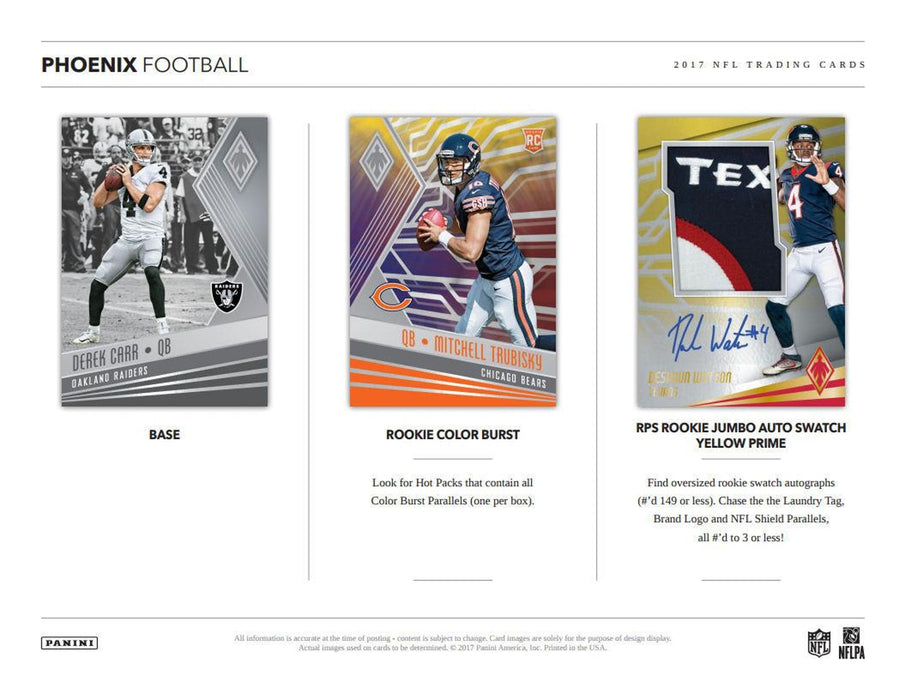 2017 Panini Phoenix Football Hobby Pack-Cherry Collectables