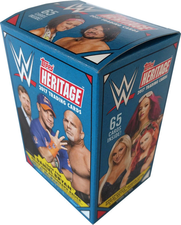 2017 Topps WWE Heritage Wrestling 8-Pack Blaster Box-Cherry Collectables