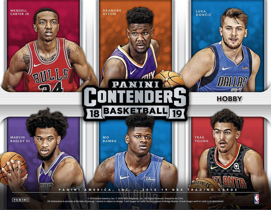 2018-19 Panini Contenders Basketball Hobby Box-Cherry Collectables