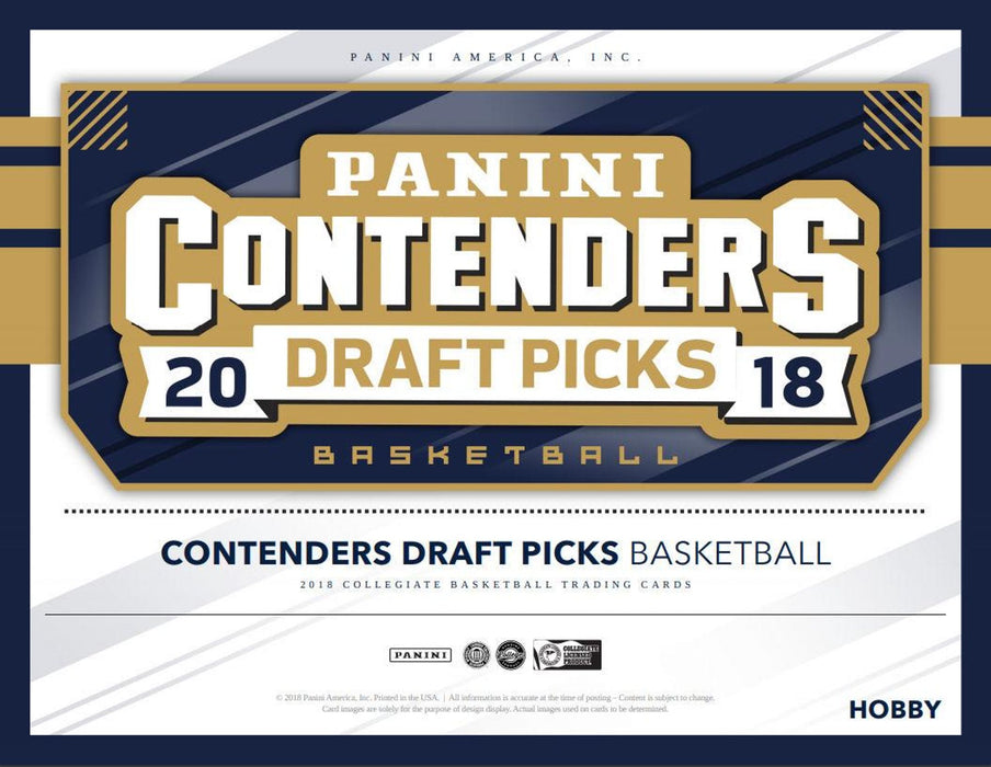 2018-19 Panini Draft Picks Contenders Basketball Hobby Box-Cherry Collectables
