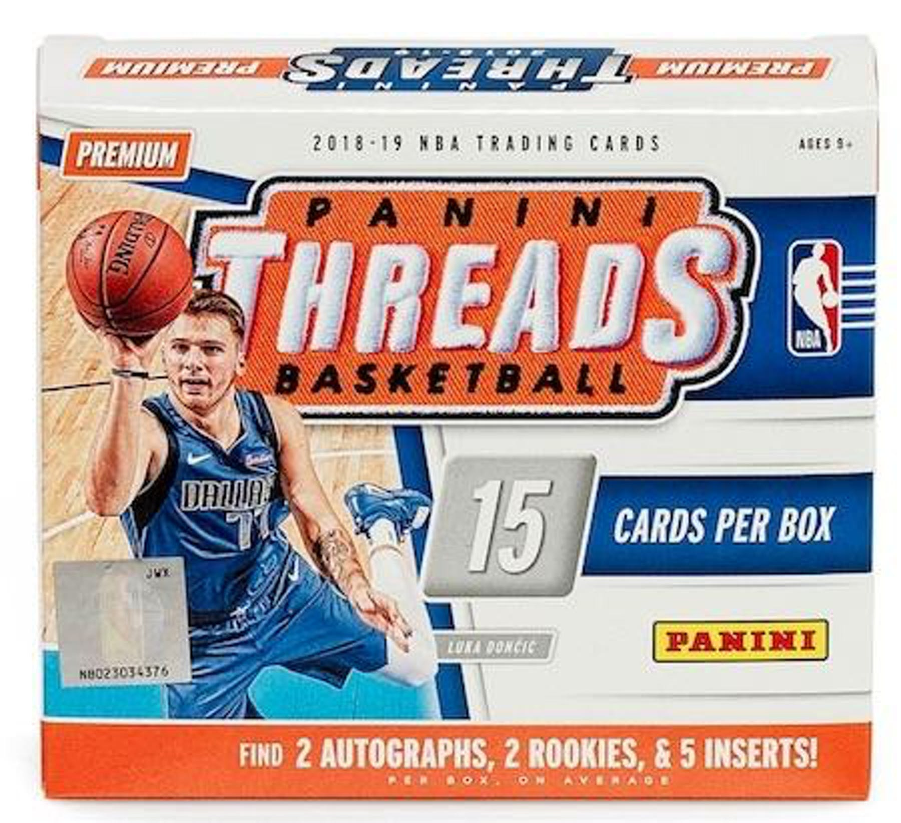 2018 19 Panini Threads Premium Edition Basketball Hobby Box