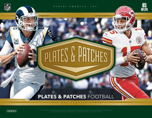 2018 Panini Plates and Patches Football Hobby Box-Cherry Collectables