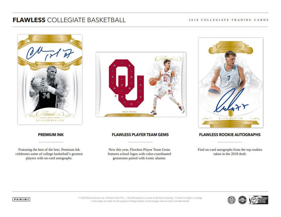 2018-19 Panini Flawless Collegiate Basketball Hobby Box-Cherry Collectables
