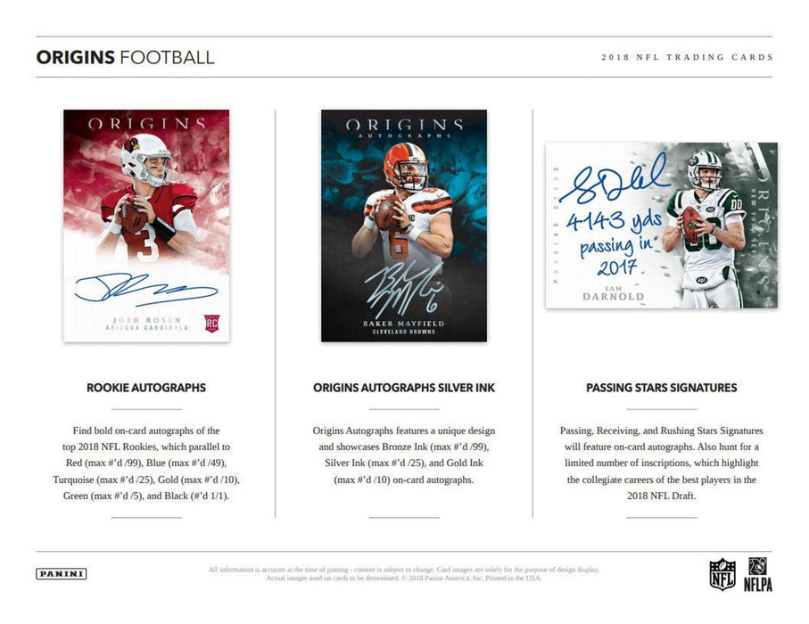 2018 Panini Origins Football Hobby Box-Cherry Collectables
