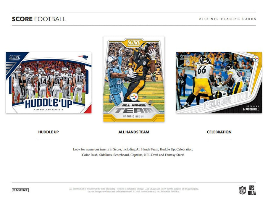 2018 Panini Score Football Hobby Pack-Cherry Collectables