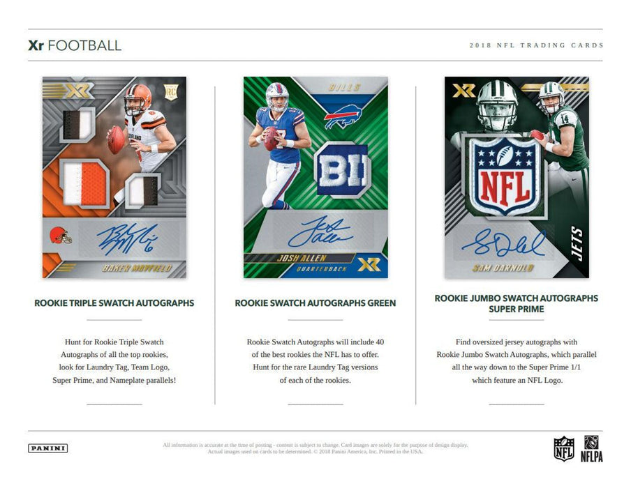 2018 Panini XR Football Hobby Box-Cherry Collectables