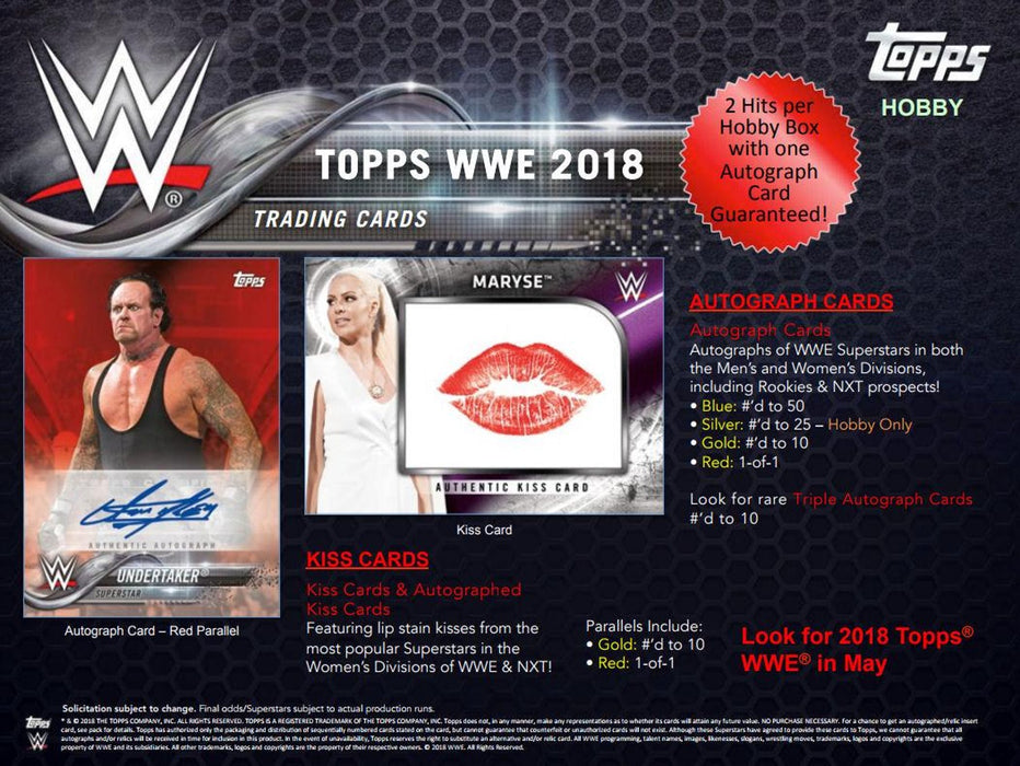 2018 Topps WWE Wrestling Hobby Box-Cherry Collectables