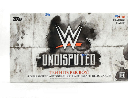 2018 Topps WWE Undisputed Wrestling Hobby Box-Cherry Collectables