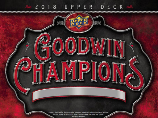 2018 Upper Deck Goodwin Champions Hobby Pack-Cherry Collectables