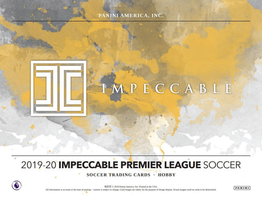 2019-20 Panini Premier League Impeccable Soccer Hobby Box (Pre Order Jun 10)-Cherry Collectables
