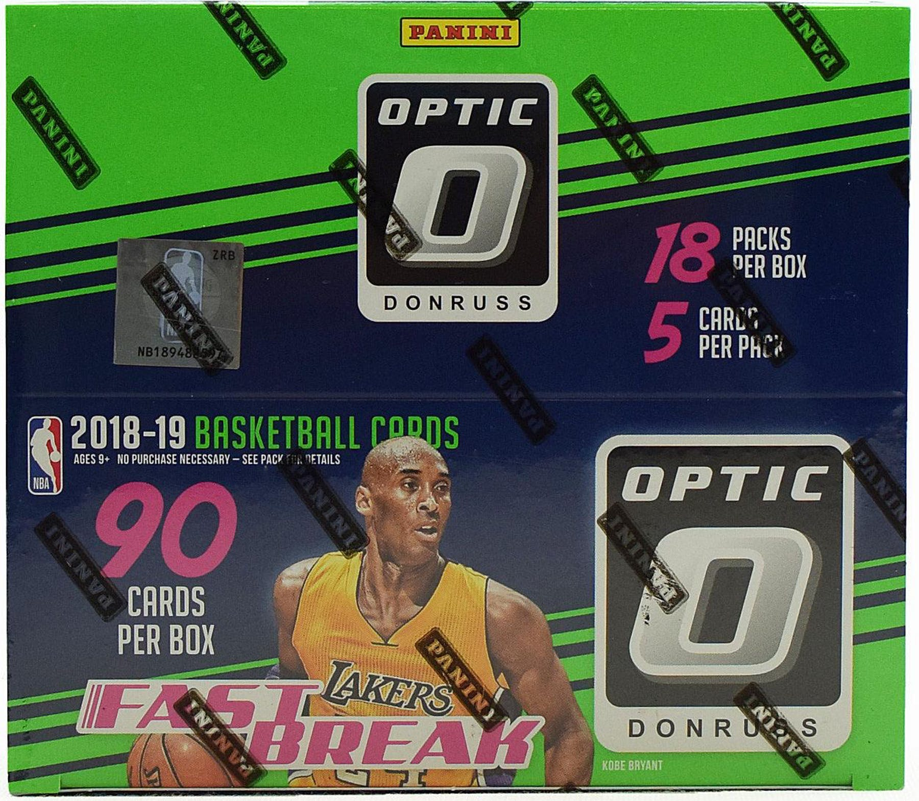2018-19 Donruss Optic Basketball Fast Break Box-Cherry Collectables