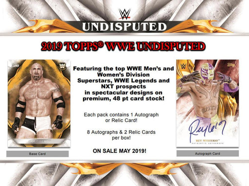 2019 Topps WWE Undisputed Wrestling Hobby Box (Pre Order May 29)-Cherry Collectables