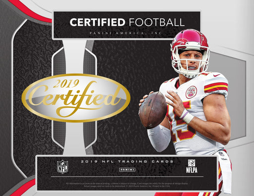2019 Certified Football Hobby Box-Cherry Collectables