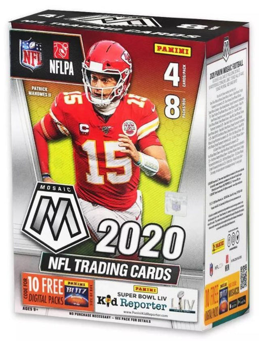 2020 Panini Mosaic Football 8-Pack Blaster Box-Cherry Collectables