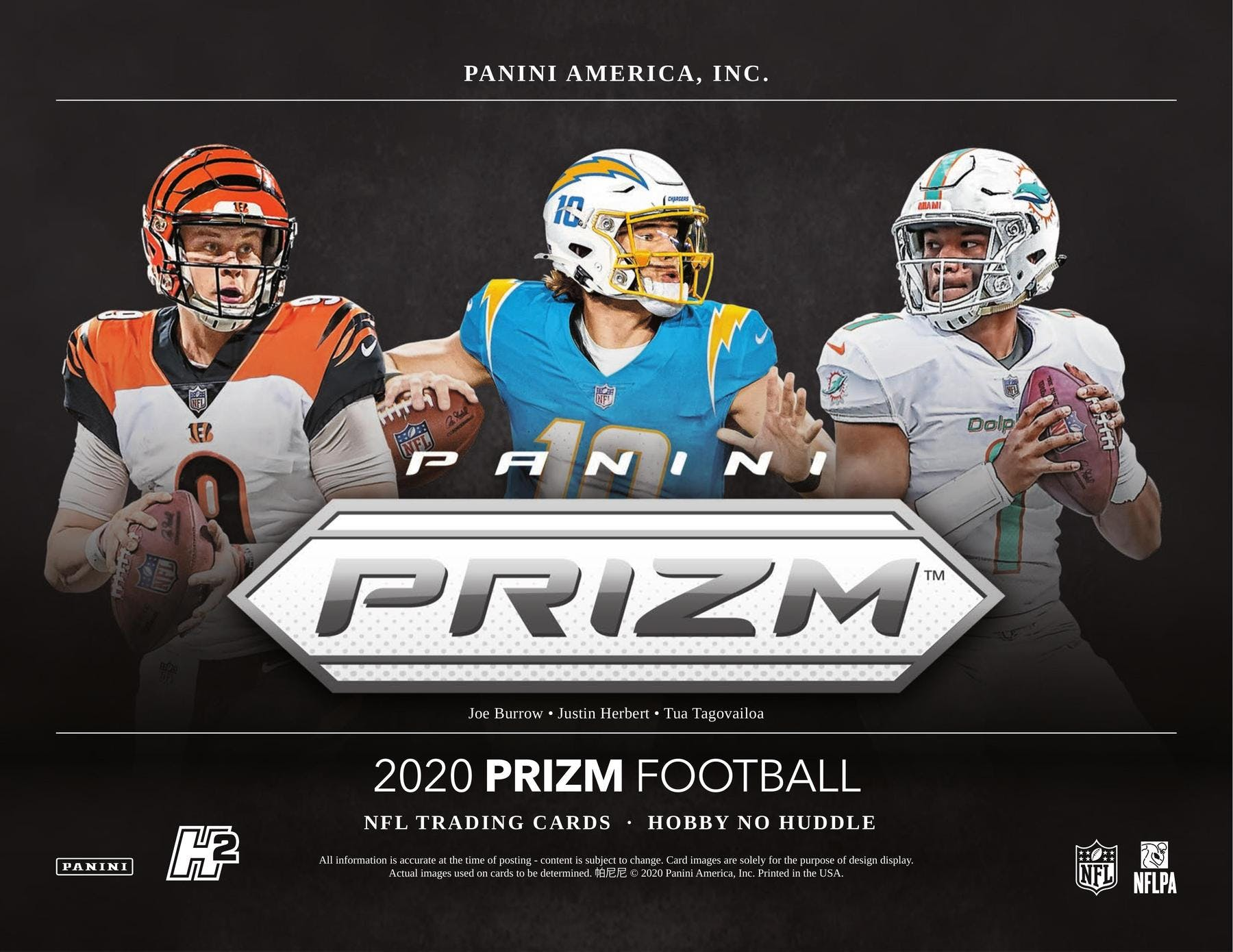 2020 Prizm No Huddle 1-Box Break #1927 (Chargers GIVEAWAY) - Team Based - Jan 15 (5pm)-Cherry Collectables