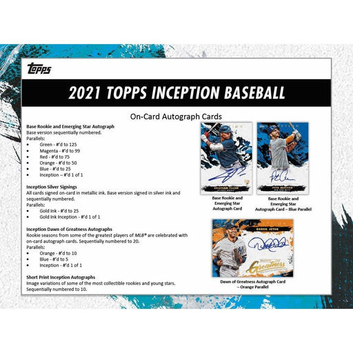 2021 Topps Inception Baseball 2-Box Break #2881 - Random Team - Apr 16 (5pm)-Cherry Collectables