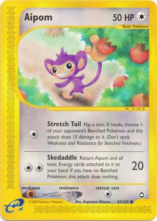 Aipom - 67/147 - Common-Cherry Collectables