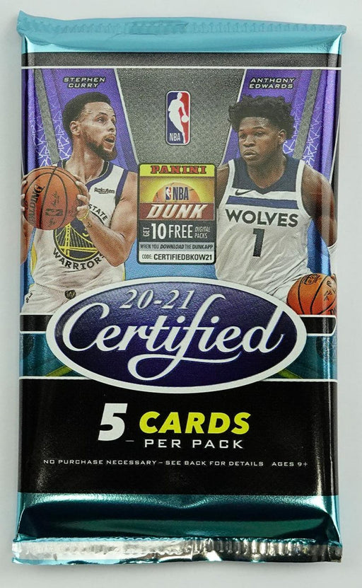 2020-21 Panini NBA Certified Basketball Hobby Pack-Cherry Collectables