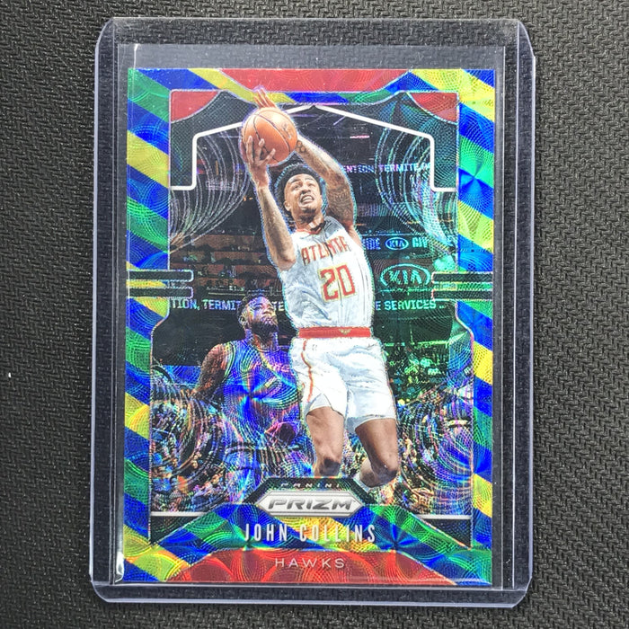 2019-20 Prizm JOHN COLLINS Blue Yellow Green Prizm #32-Cherry Collectables