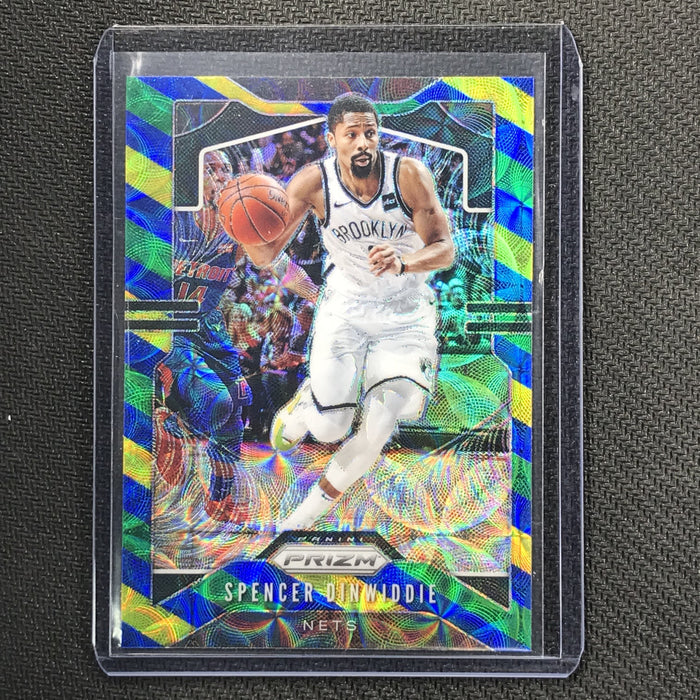 2019-20 Prizm SPENCER DINWIDDIE Blue Yellow Green Prizm #48-Cherry Collectables