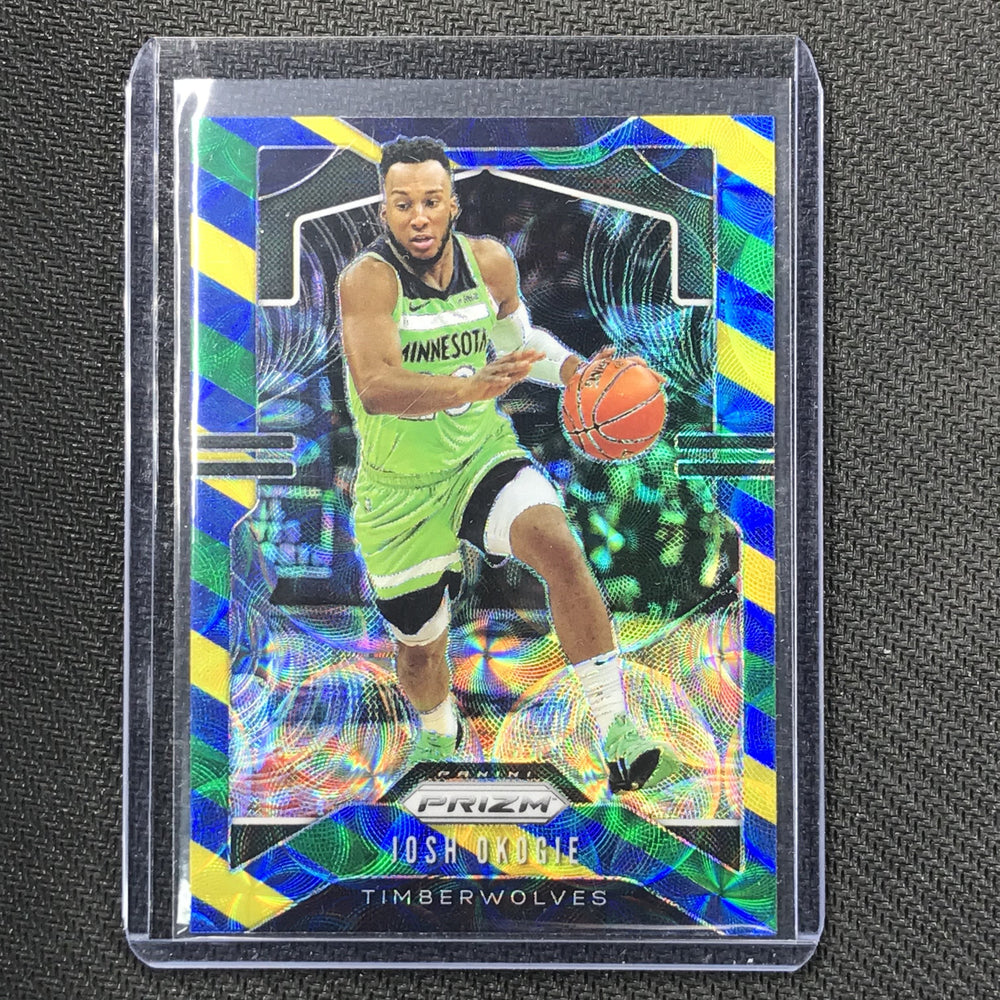 2019-20 Prizm JOSH OKOGIE Blue Yellow Green Prizm #163-Cherry Collectables