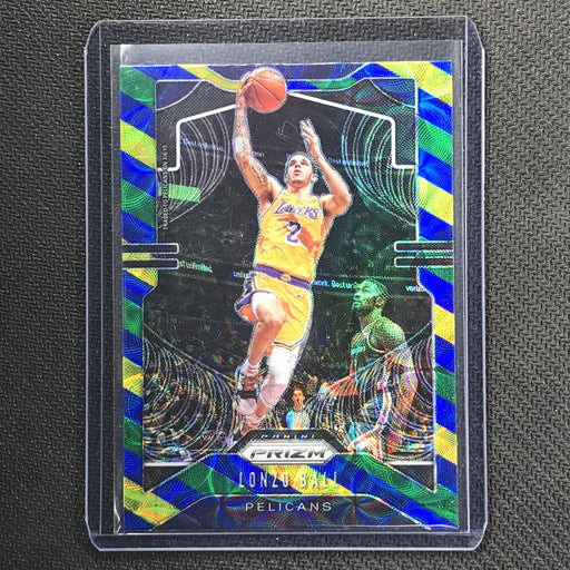 2019-20 Prizm LONZO BALL Blue Yellow Green Prizm #239-Cherry Collectables