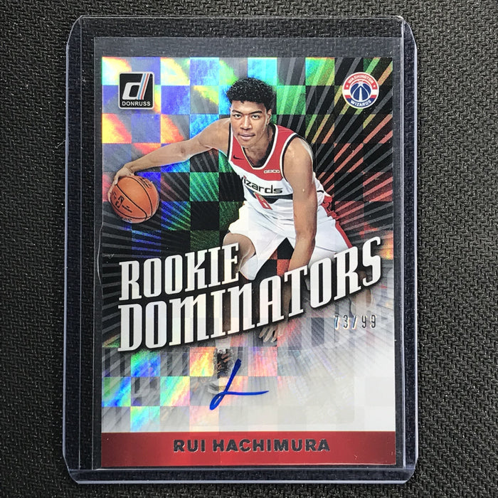 2019-20 Donruss RUI HACHIMURA Rookie Dominators Auto 73/99-Cherry Collectables