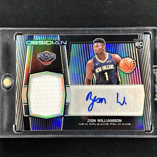 2019-20 Obsidian ZION WILLIAMSON Rookie Patch Auto 15/75-Cherry Collectables