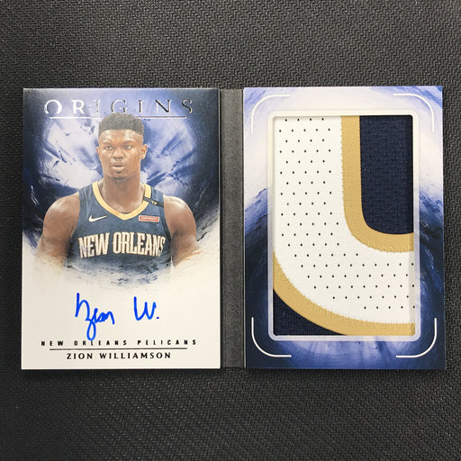 2019-20 Origins ZION WILLIAMSON Rookie Patch Auto Booklet 7/10-Cherry Collectables