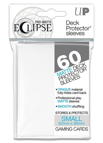 Ultra PRO - White Small - Pro-Matte Eclipse Deck Protector® Sleeves 60ct-Cherry Collectables