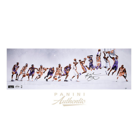 "Kobe Bryant Autographed 12x36 ""Through the Years"" Photograph - Limited Edition to 124-Cherry Collectables"